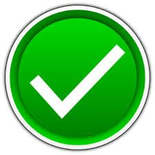 Green circle with a white check mark